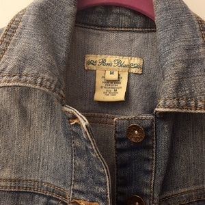 Paris Blues Jackets & Coats - Distressed Denim Vest